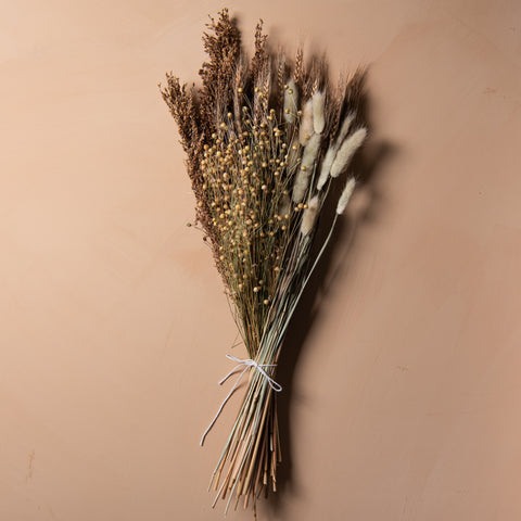real dried wheat grass bouquet