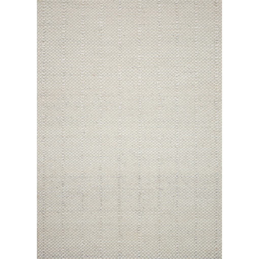 BONE COLORED RUG WITH TEXTURED RAISED LINES