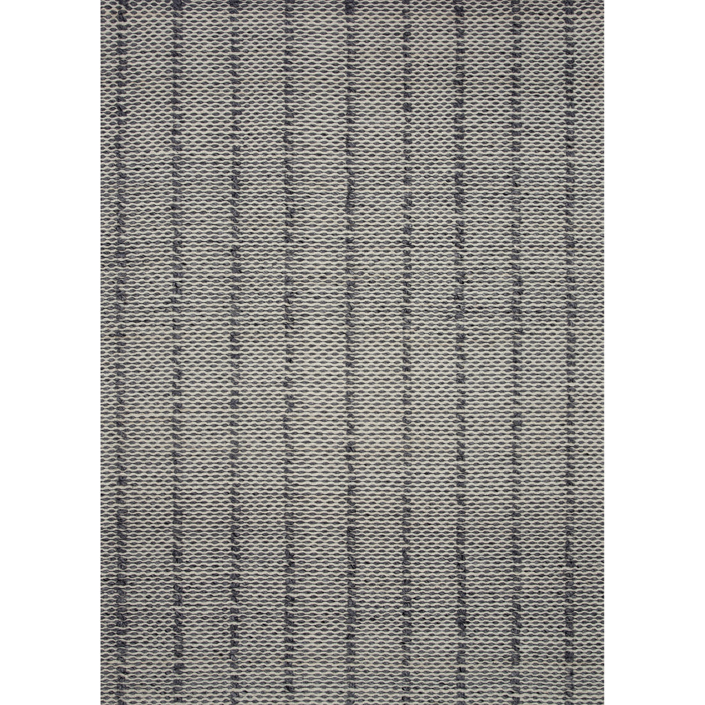 CHARCOAL COLORED RUG WITH TEXTURED RAISED LINES