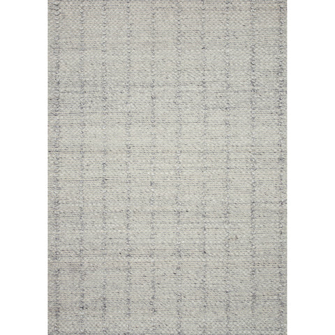 light grey wool blend textured rug