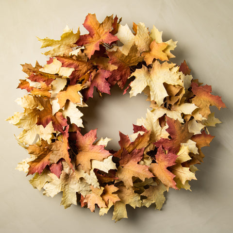 Magnolia Crafted Autumn Leaves Wreath