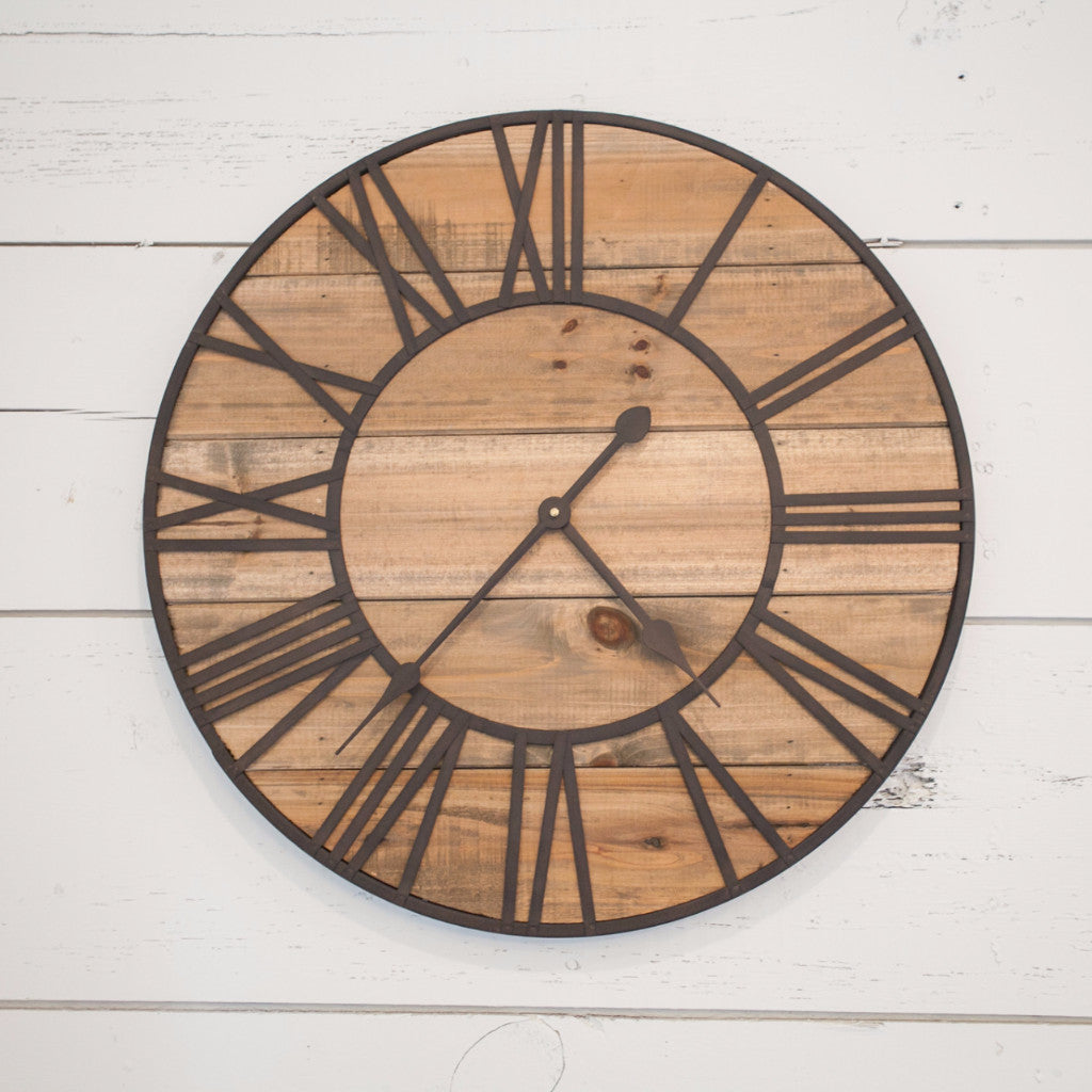Rustic Wall Clock Magnolia Chip Joanna Gaines
