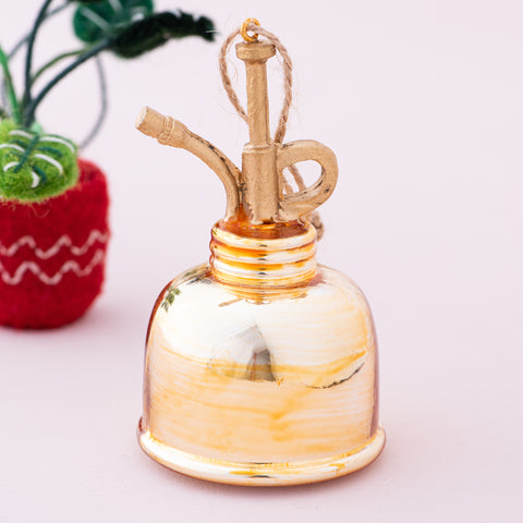 gold plant mister christmas ornament