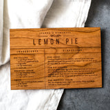 Wooden Recipe Card