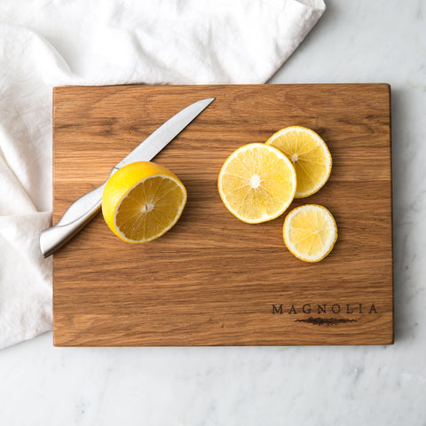 Magnolia & Garland Cutting Board