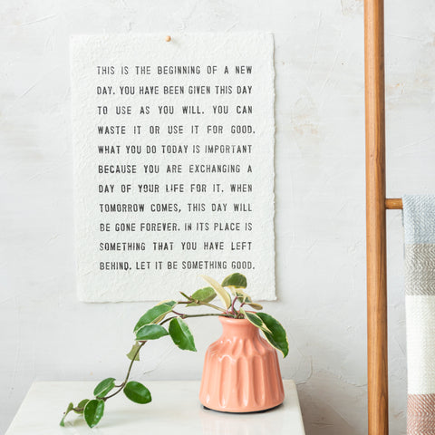 organic textured art print with a quote