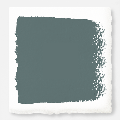 deep muted blue with grey undertones chalk paint