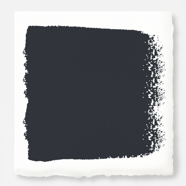dark chalkboard black with blue undertones paint