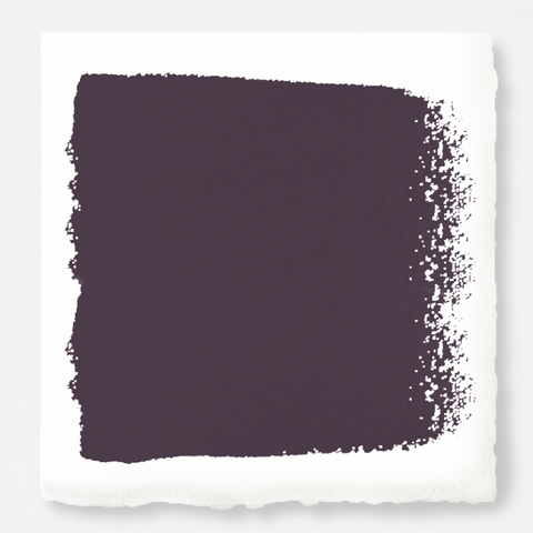 Deep eggplant purple interior paint