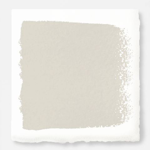 Warm white brushed with warm beige interior paint