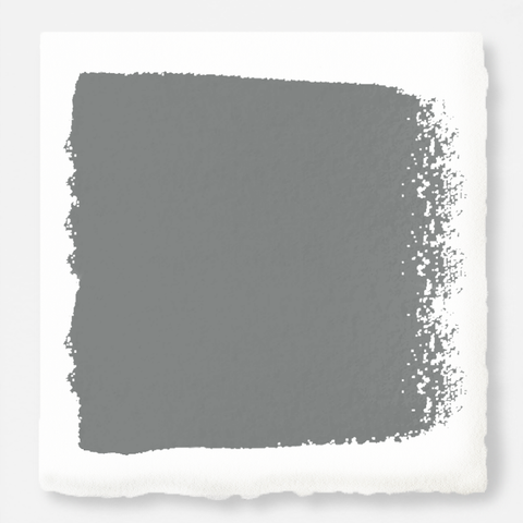 A dark gray with blue and green undertones interior paint