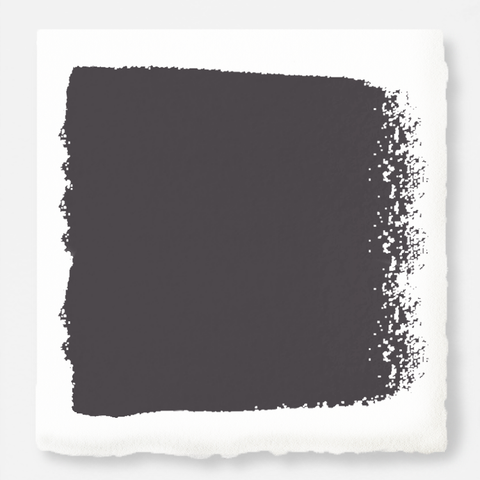 A chalky black interior paint