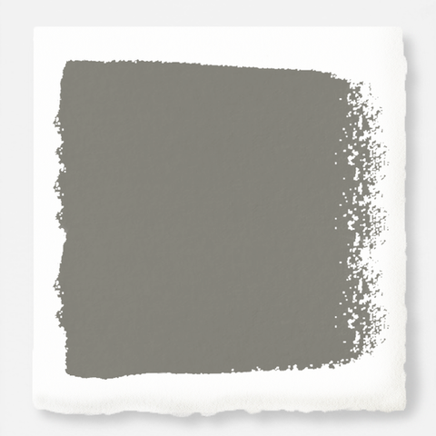 Earth toned gray accented with olive green and cocoa chalk style paint
