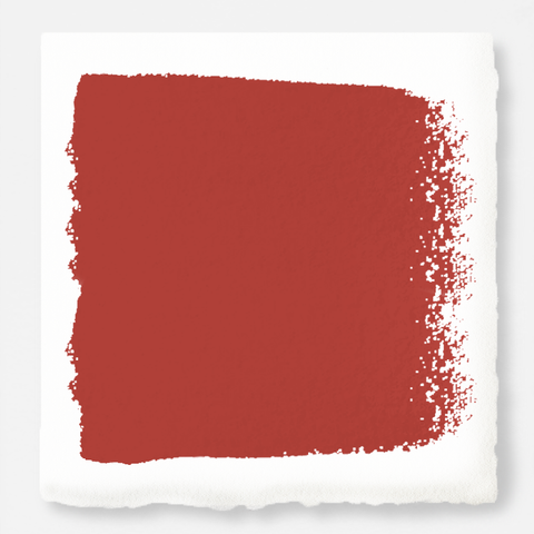 Bright red with flame orange notes interior paint