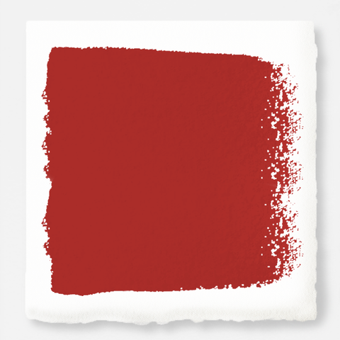 Bright pomegranate red interior paint