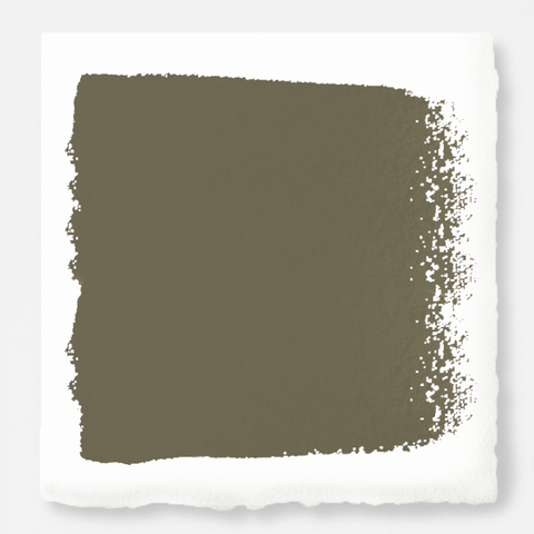 A warm olive green interior paint