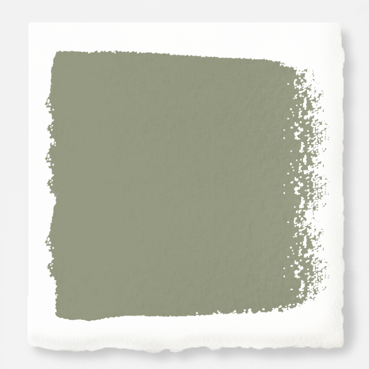dark grey-green paint