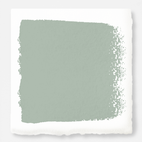 Creamy mint green interior paint