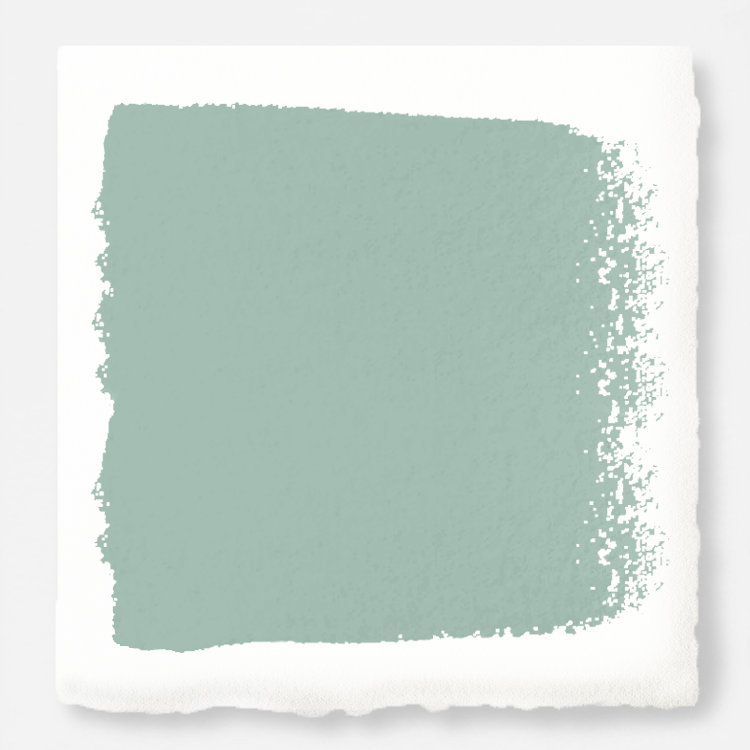 Aqua and minty blue slightly muted with gray interior paint