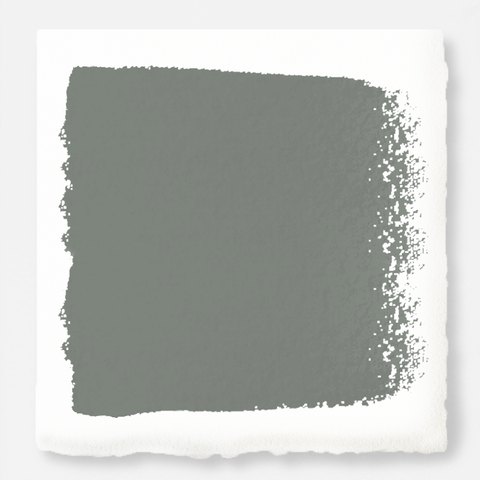 Mid-tone sage green blended with earthy gray interior paint