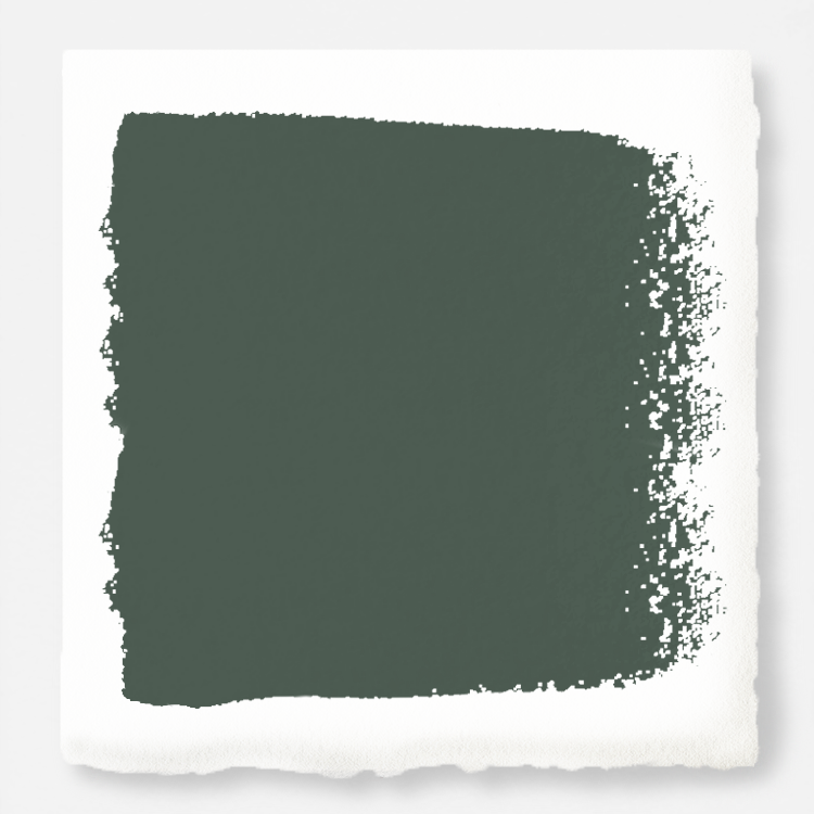 Deep hunter green interior paint
