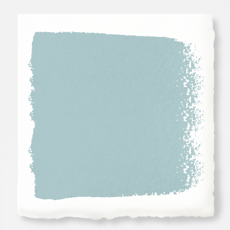 sky blue with grey undertone paint