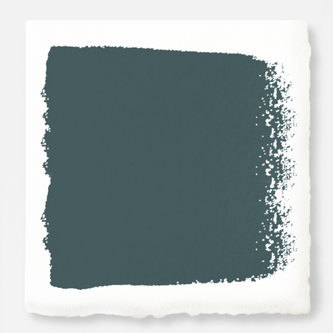 A muted peacock blue interior paint