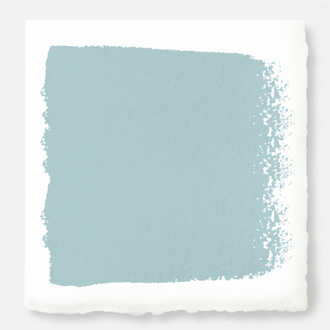 A muted blue interior paint