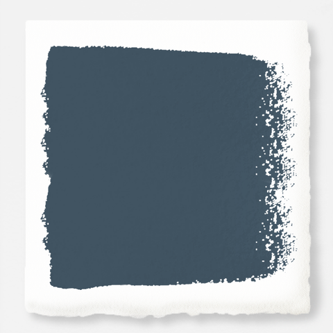 Denim blue slightly muted with gray and silver hues interior paint