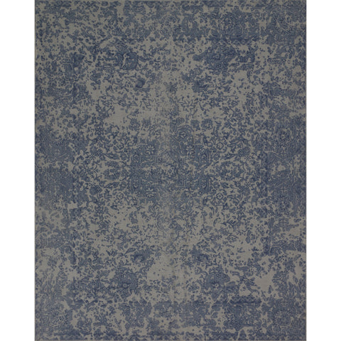dark blue distressed rug with grey undertones