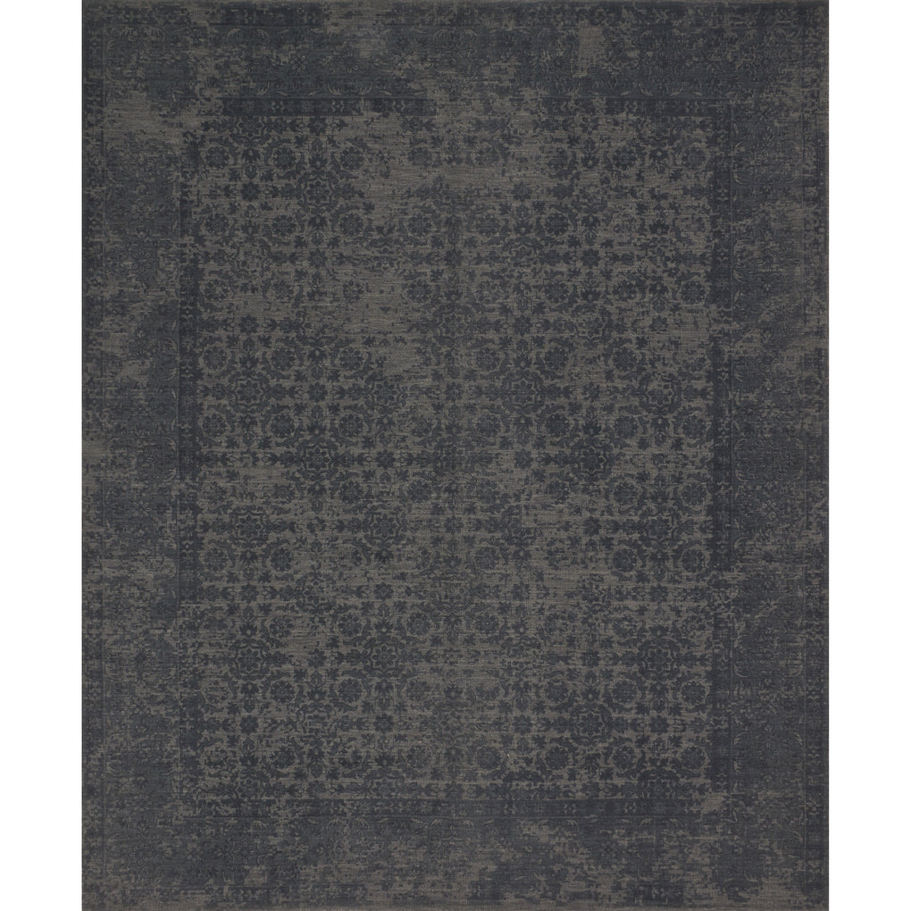 dark charcoal distressed rug