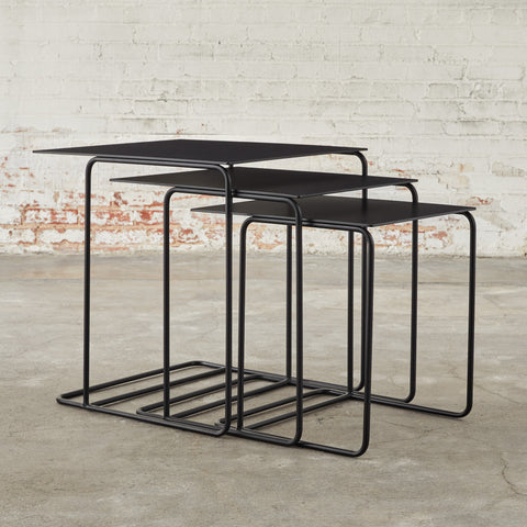 Nested Metal Traverse End Tables