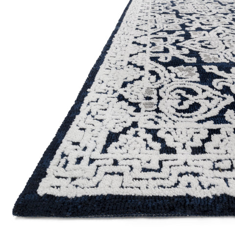 Lotus Midnight Silver Rug