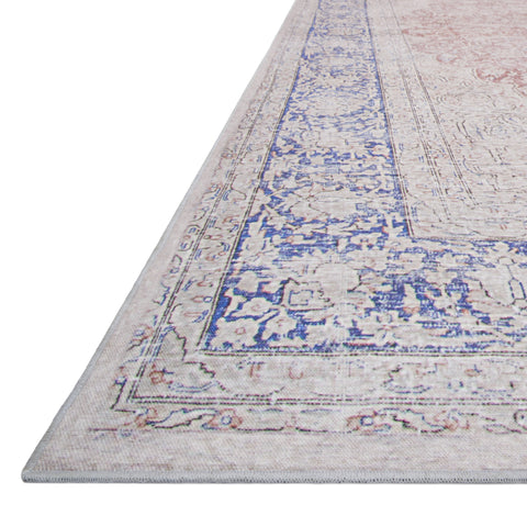 Lucca Terracotta Blue Rug