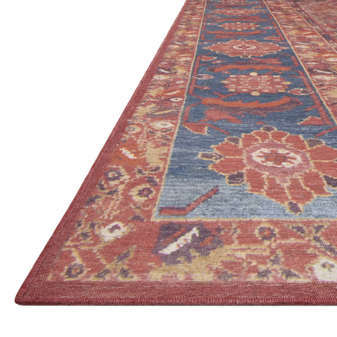 Lucca Rust Blue Rug