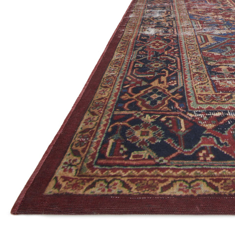 Lucca Red Blue Rug