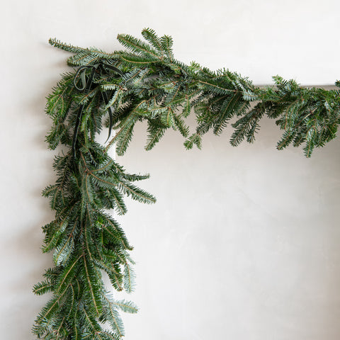 20 foot fresh cut fir garland