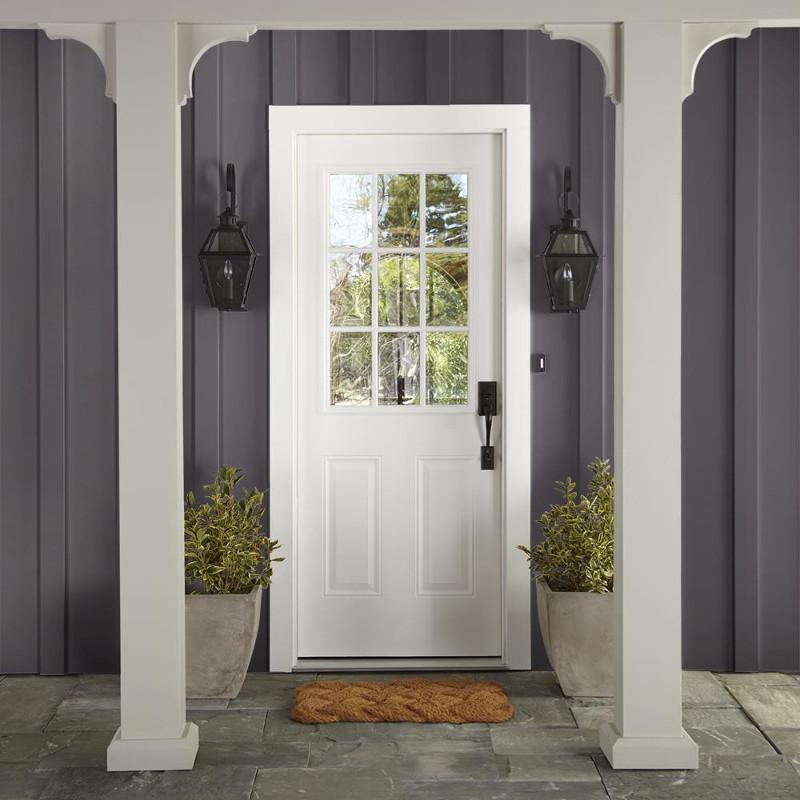 chalky black exterior paint