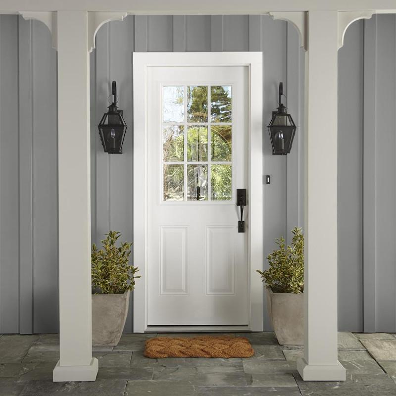 warm mid-tone gray exterior paint
