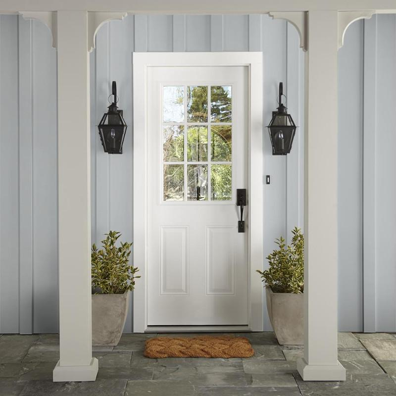 Light silver gray exterior paint