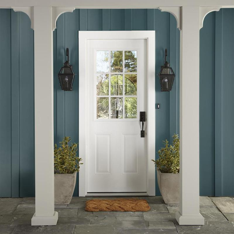 Denim inspired blue that remains vibrant and bold exterior paint