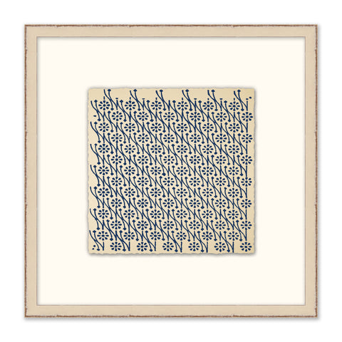 framed print of blue pattern with white mat