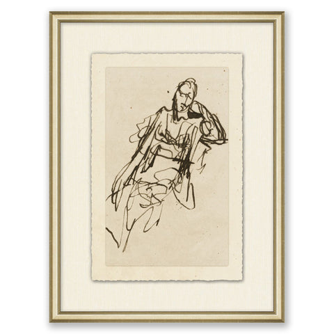 framed figurative sketch of a person