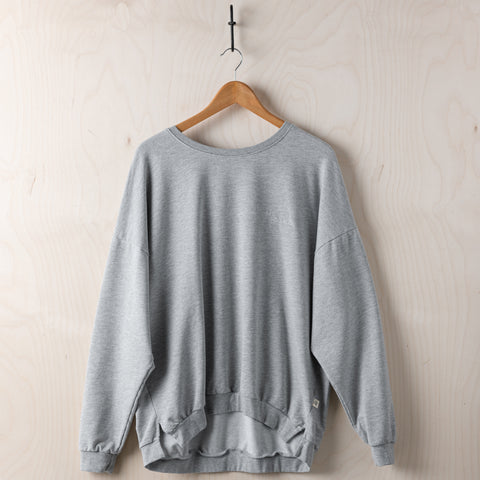 Magnolia Script Heather Grey Sweatshirt