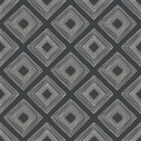 black and white diamond sketched pattern wallpaper