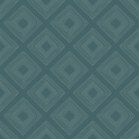 dark and light teal diamond sketched pattern wallpaper