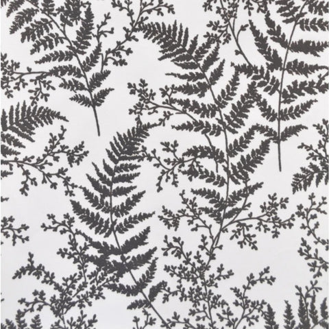 grey  and white fern pattern wallpaper