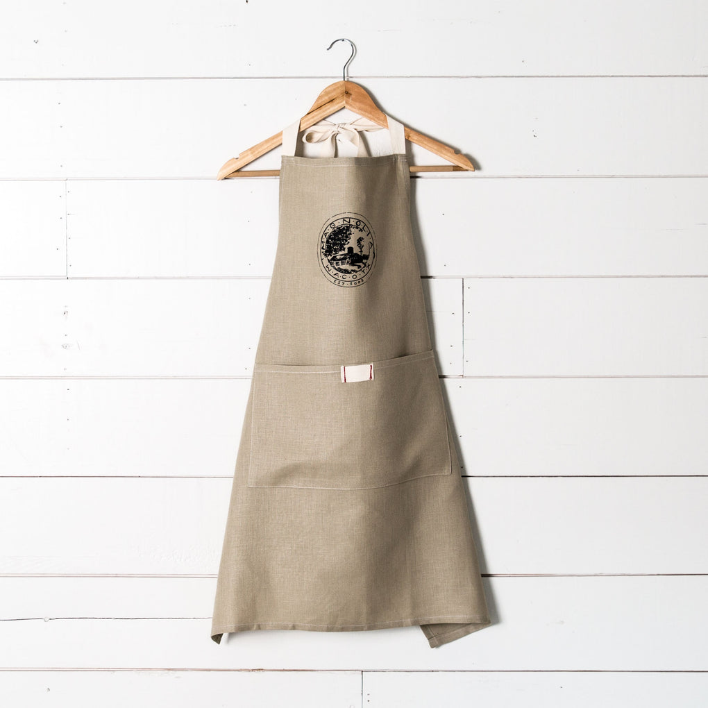 canvas full apron with Magnolia seal logo on front