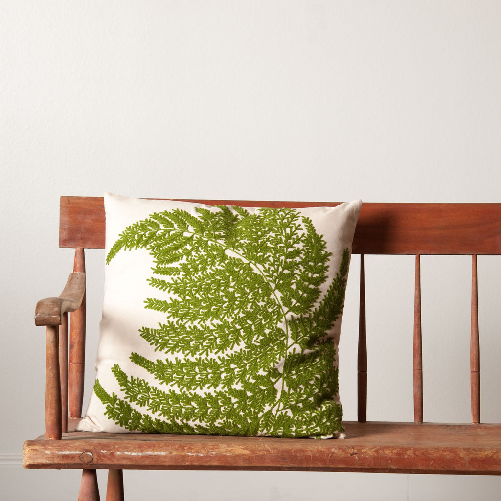 Fern Fronds Pillow - Magnolia | Chip & Joanna Gaines