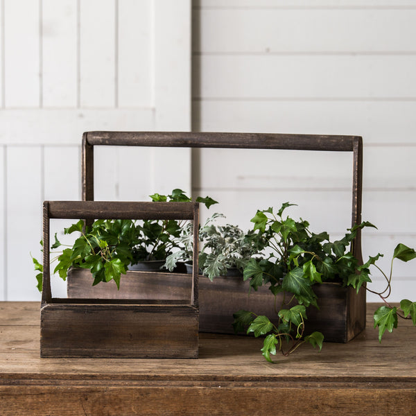 Wood planter basket magnolia chip joanna gaines for Chip and joanna gaines farmhouse address